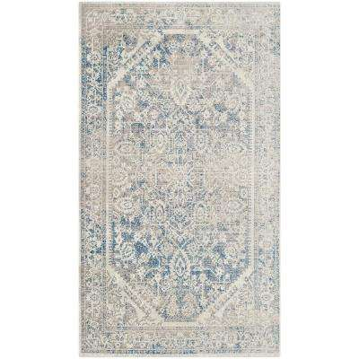 Patina Gray/Blue 3 ft. x 5 ft. Area Rug