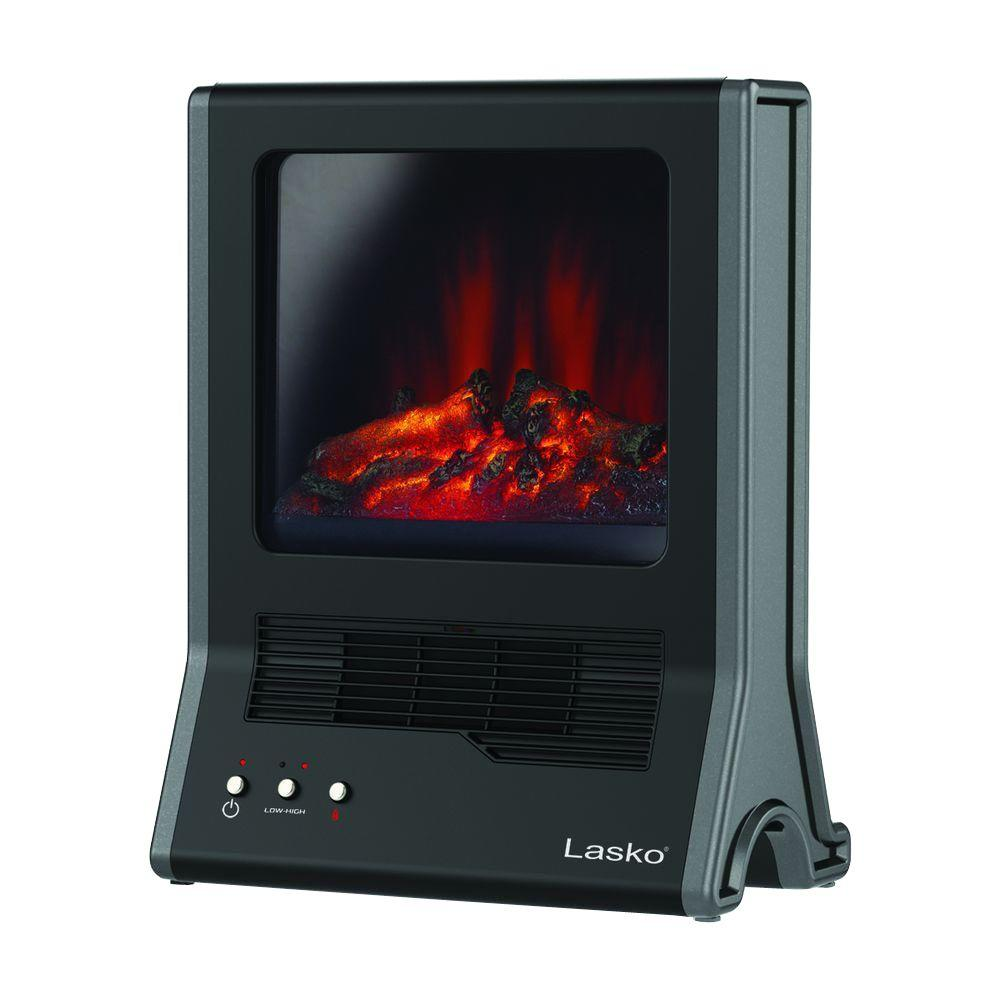 This Lasko Ultra Ceramic Fireplace Heater is an ideal solution for a secondary heating source anywhere in your home. It has a self-regulating ceramic element along with a quiet blower system that quickly