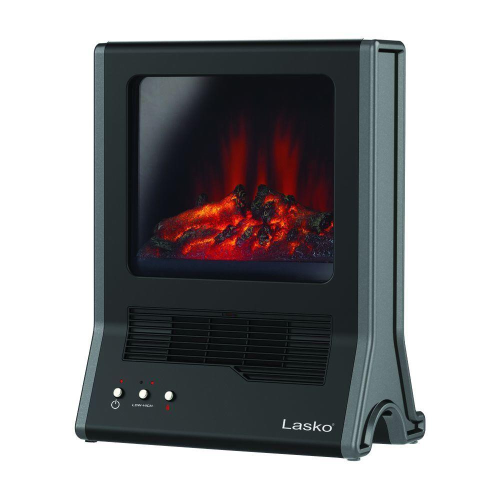 Crane 1500 Watt Mini Fireplace Ceramic Electric Portable Heater ...