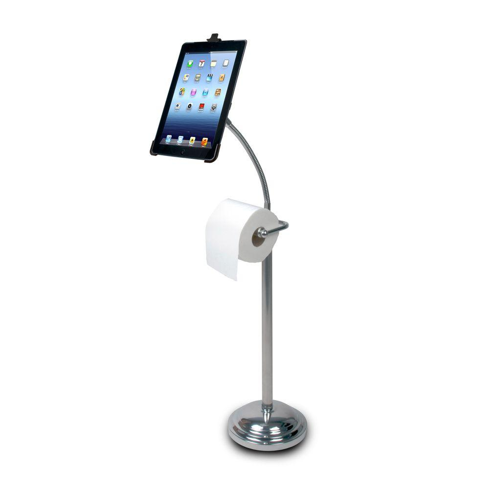 null Pedestal Stand for iPad with Roll Holder