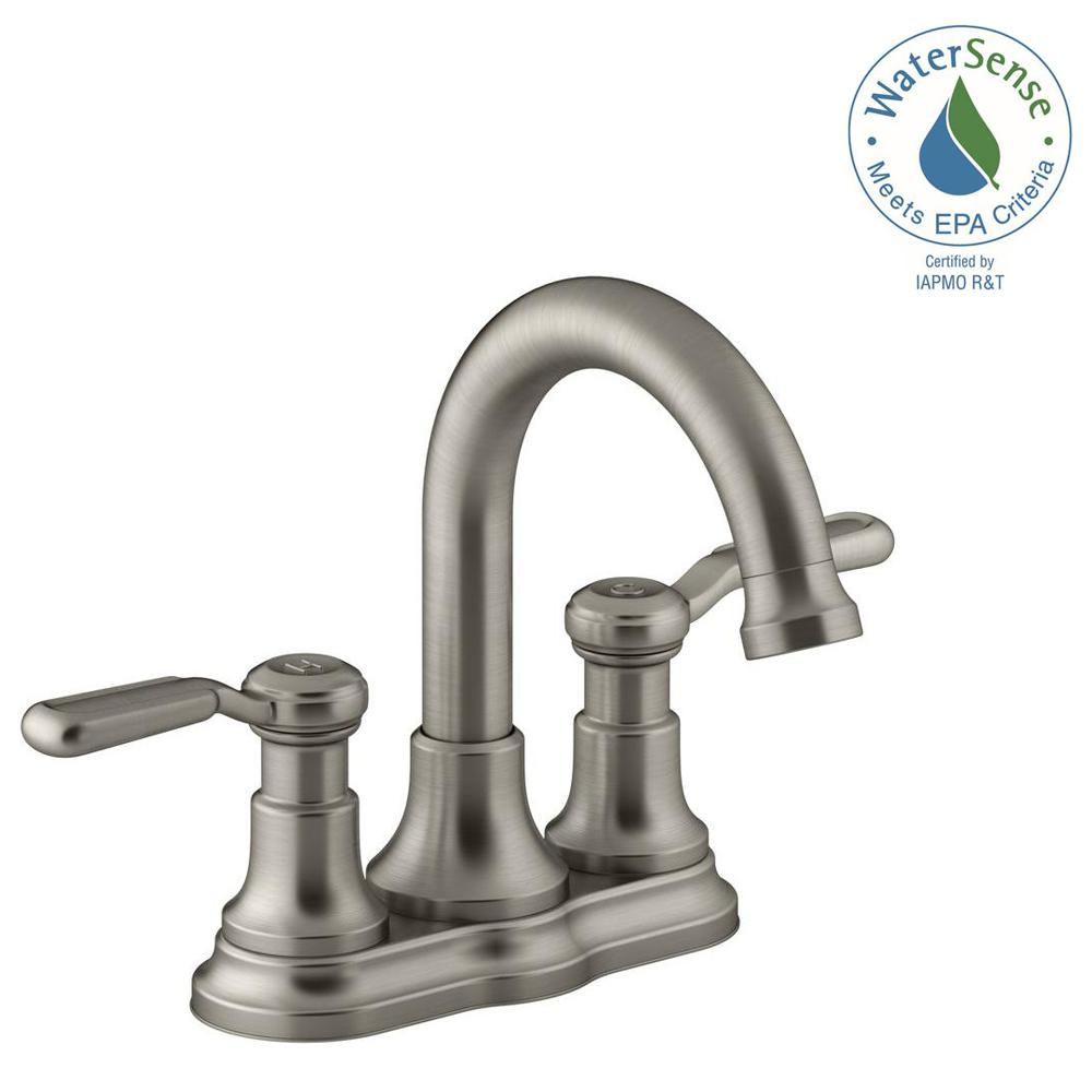KOHLER Worth In Centerset Handle Bathroom Faucet In Vibrant - Kohler worth bathroom faucet