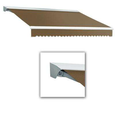 12 ft. Destin with Hood AT Model Left Motor Retractable Awning (12 ft. W x 10 ft. D) in Linen