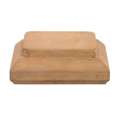 Miterless 4 in. x 4 in. Untreated Wood Traditional Slip Over Fence Post Cap (Actual: 3-1/2 in. to 3-5/8 in.)