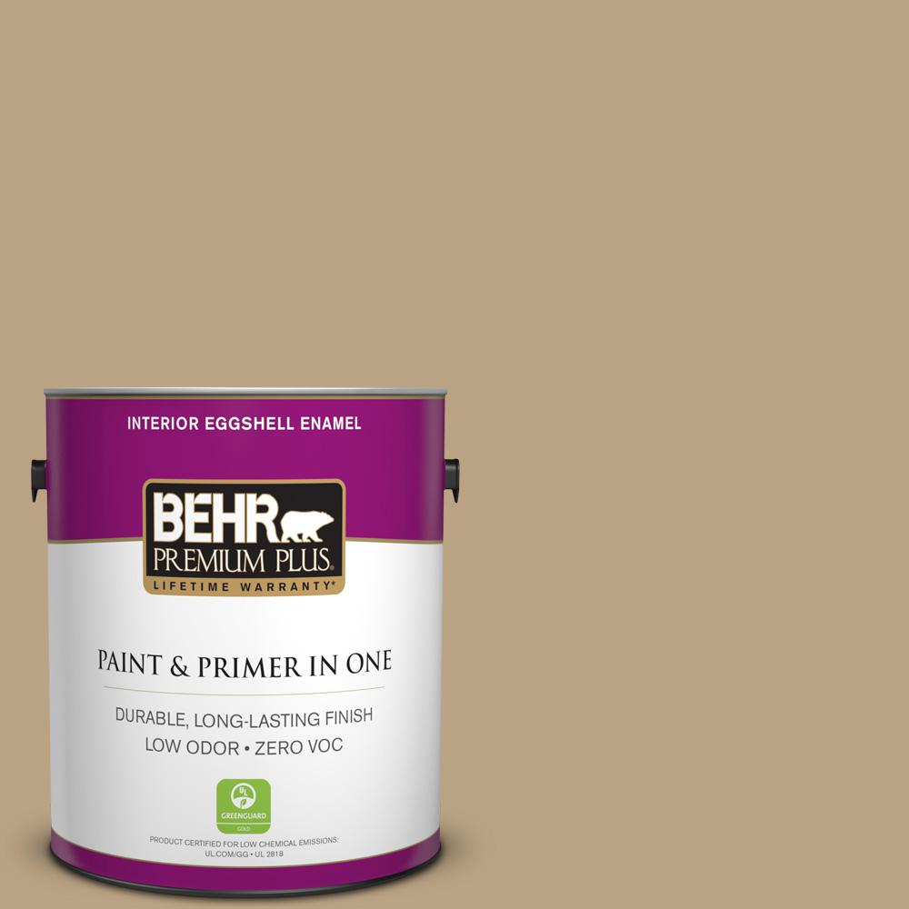BEHR Premium Plus Home Decorators Collection 1-gal. #HDC-CT-07 Country Cork Zero VOC Eggshell Enamel Interior Paint