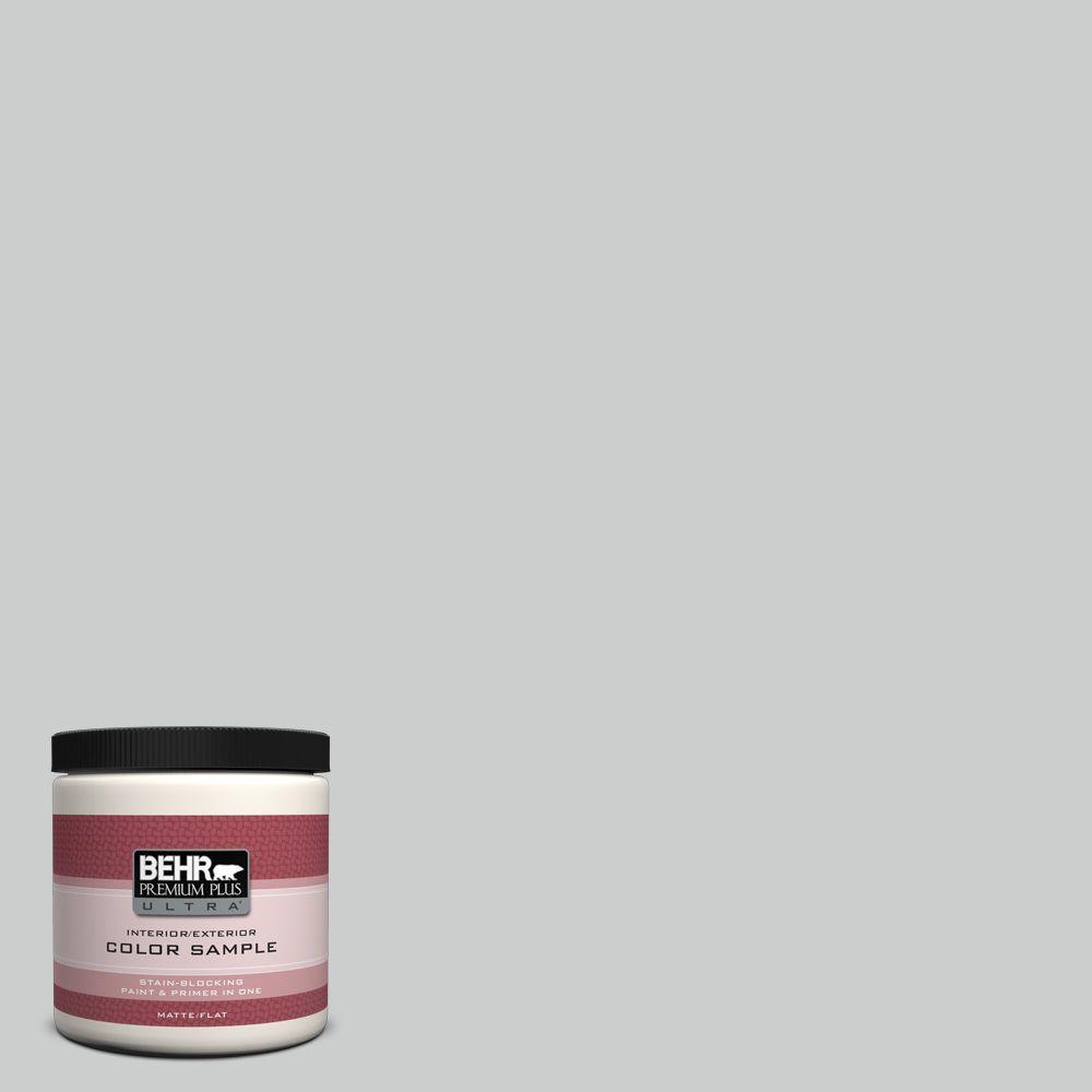 BEHR Premium Plus Ultra 8 oz. #N460-2 Planetary Silver Interior/Exterior Paint Sample