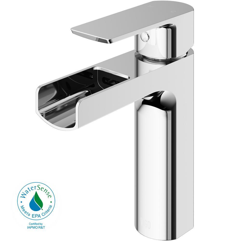 Ileana Single Hole Single-Handle Bathroom Faucet in Chrome