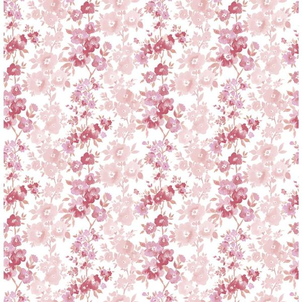 A-Street Charlise Pink Floral Stripe Wallpaper 2657-22254