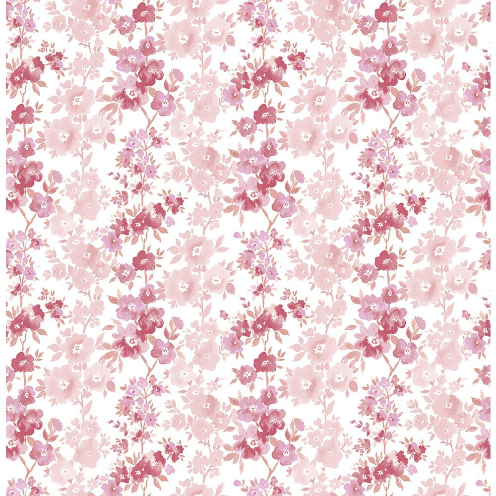 Pink wallpaper decor the home depot charlise pink floral stripe wallpaper sample mightylinksfo