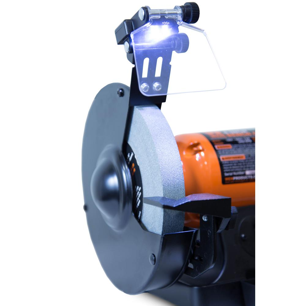 Bench Grinder 8 Quot Led Work Light Quenching Tray 4 8 Amp