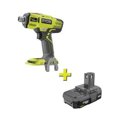 18-Volt ONE+ Cordless 1/4 in. Hex QuietSTRIKE Pulse Driver with 1.5 Ah Compact Lithium-Ion Battery