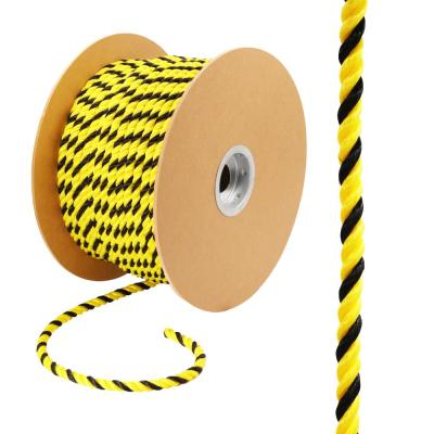 1/2 in. x 1 ft. Polypropylene Twist Rope, Yellow and Black