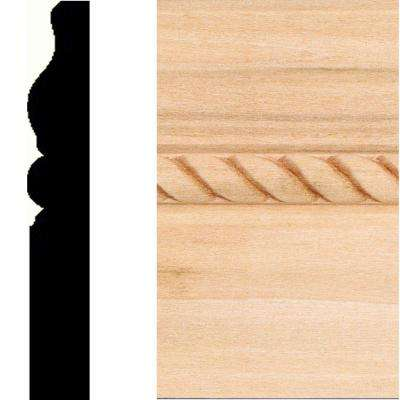 5/8 in. x 4 in. x 8 ft. Hdwd Rope Base Moulding