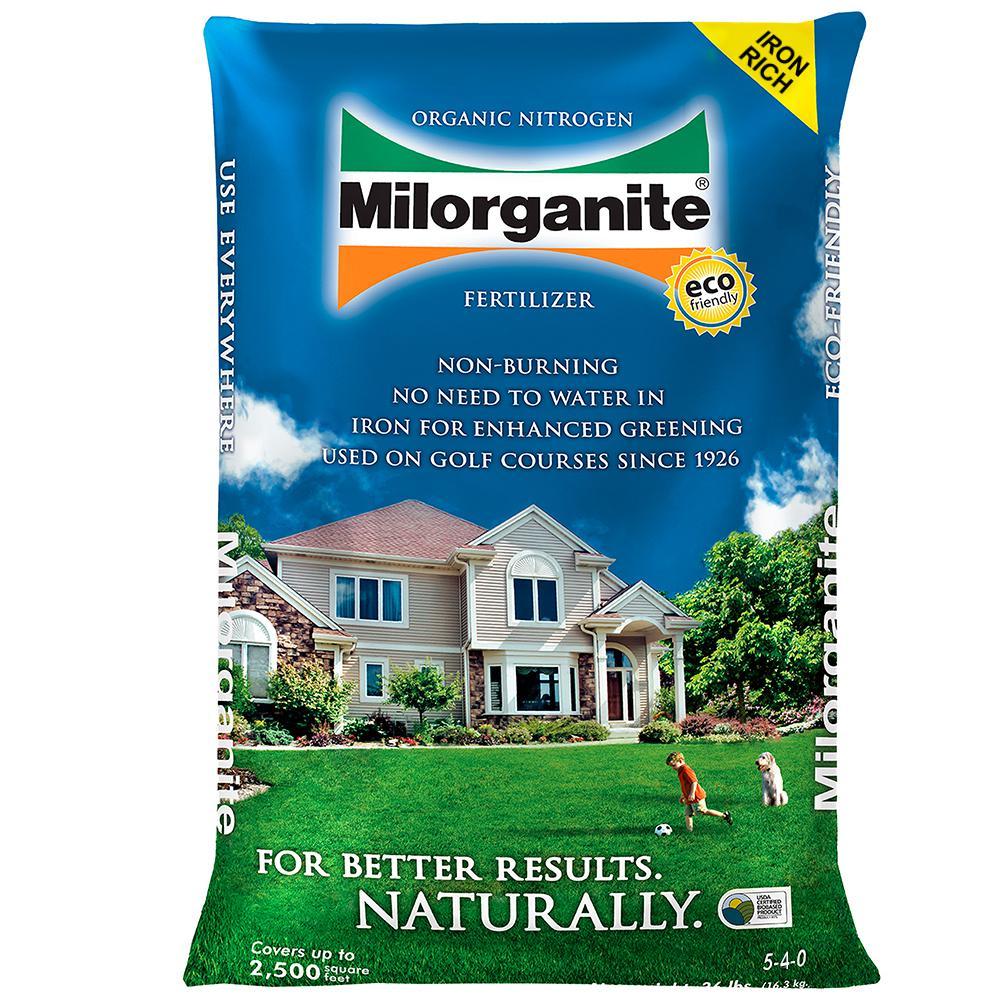 Milorganite 36 Lb Organic Nitrogen Fertilizer 100048741
