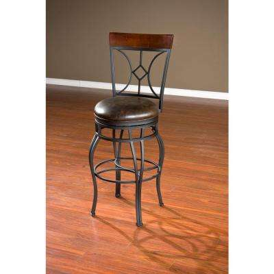 Starletta 34 in. Graphite Cushioned Bar Stool