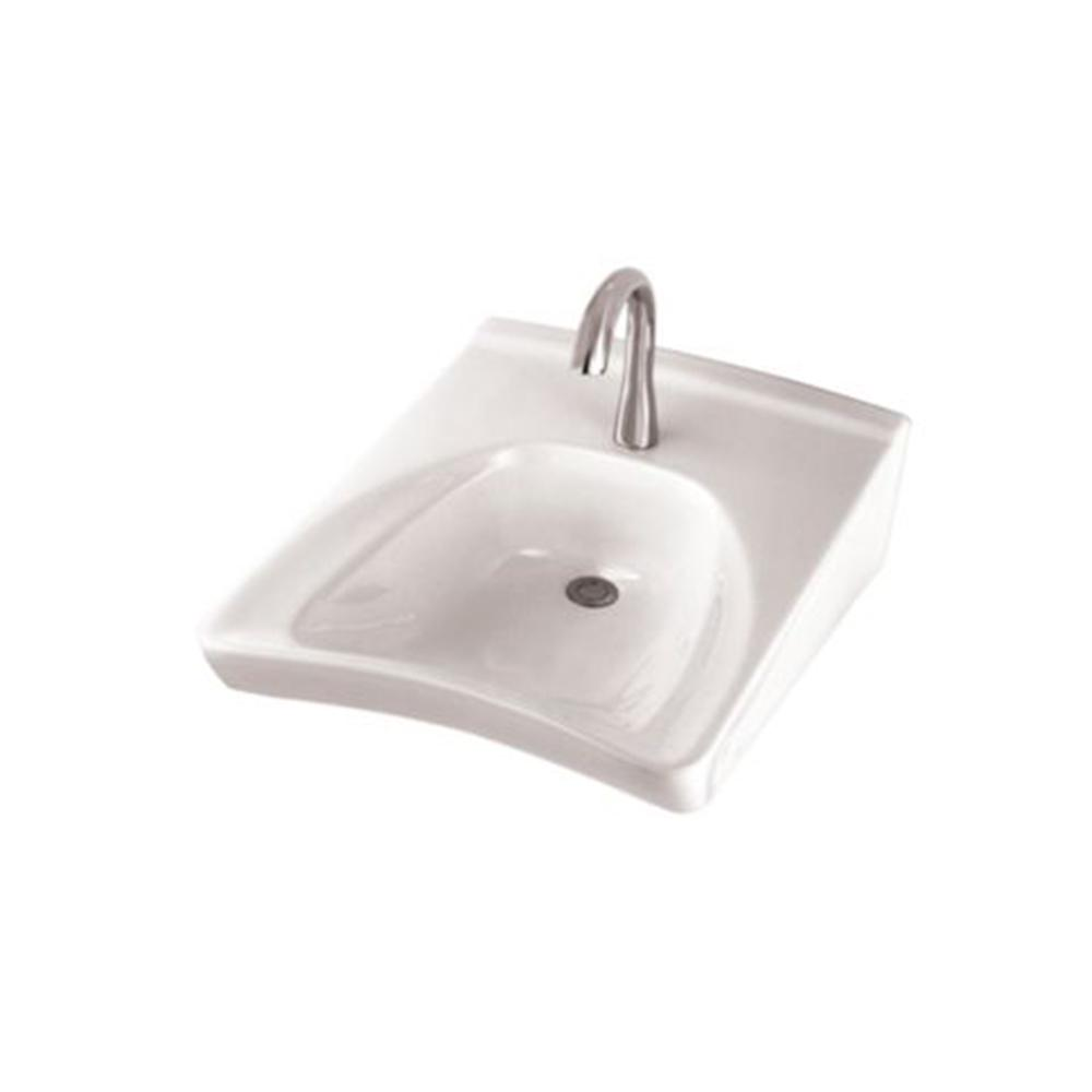 Toto Commercial 21 In Wall Mount Bathroom Sink With Single Faucet Hole And Soap Dispenser Hole