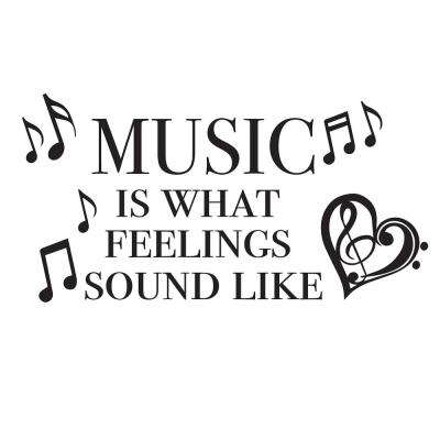 Black Feeling Music Decal Wall Quote