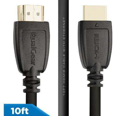 High Speed HDMI 2.0 Cable with Ethernet, 10 ft.