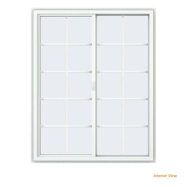 Jeld Wen 48 In X 60 In V 4500 Series Bronze Finishield Vinyl Right Handed Sliding Window With Colonial Grids Grilles Thdjw140400224 The Home Depot
