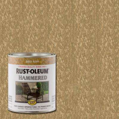 1 qt. Hammered Gold Rush Gloss Rust Preventive Paint (2-Pack)