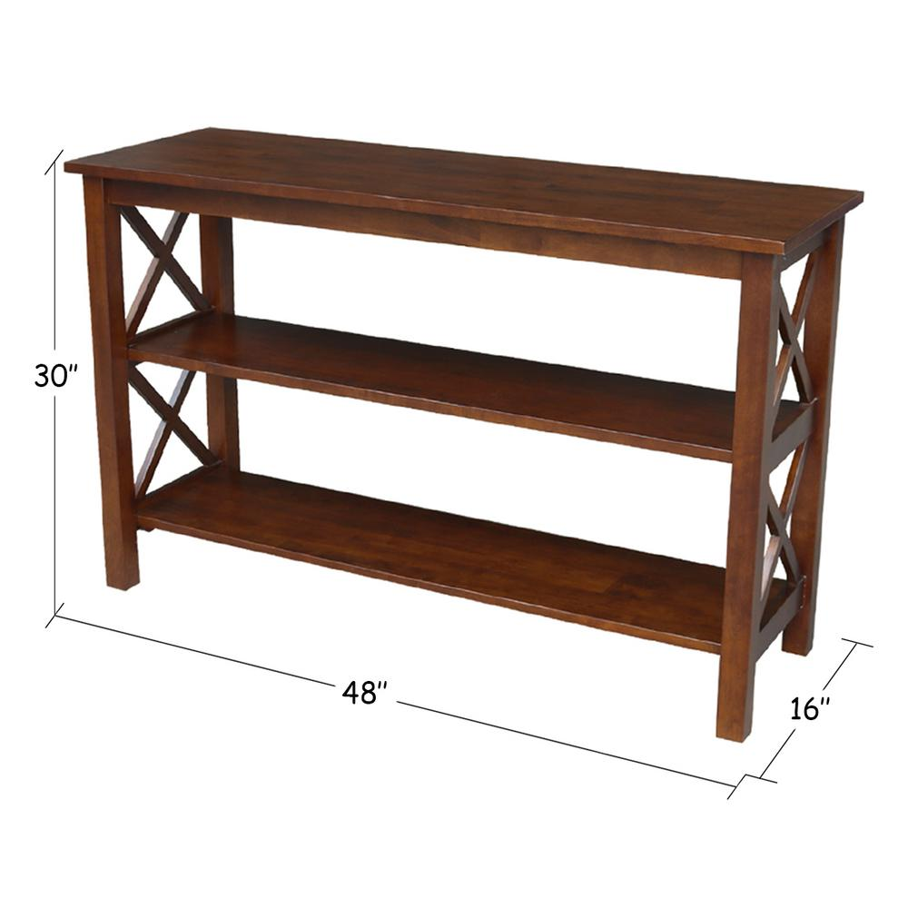 International Concepts Hampton Espresso Console Table-OT581-70S - The Home Depot