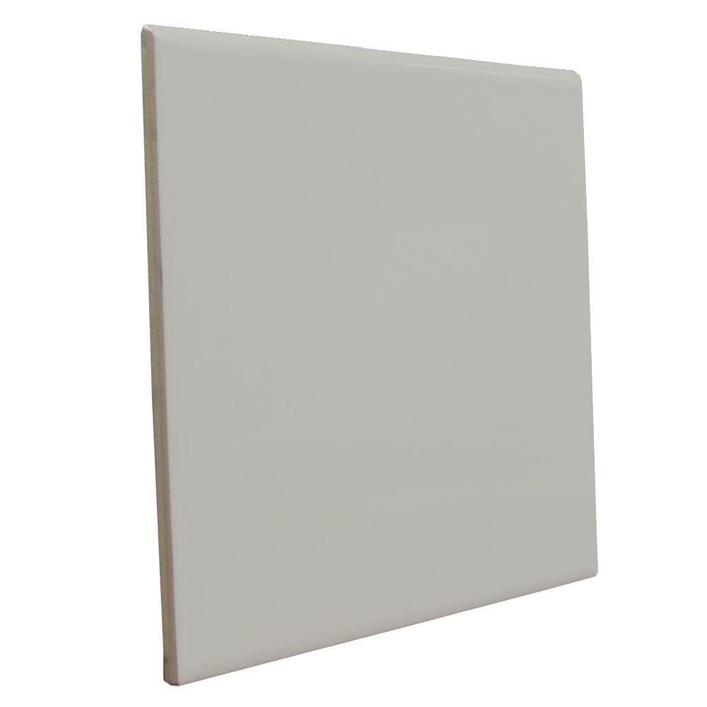 U.S. Ceramic Tile Bright Taupe 6 in. x 6 in. Ceramic Surface Bullnose Wall Tile-DISCONTINUED