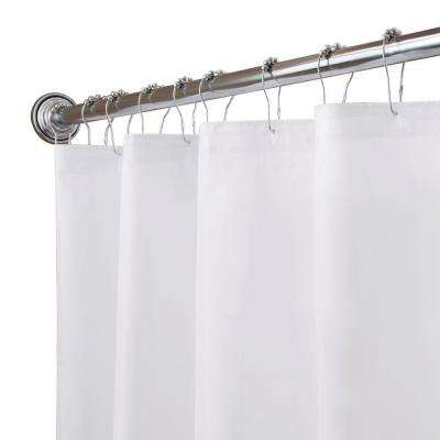 70 in. x 72 in. Fabric 100% Polyester Shower Liner in White