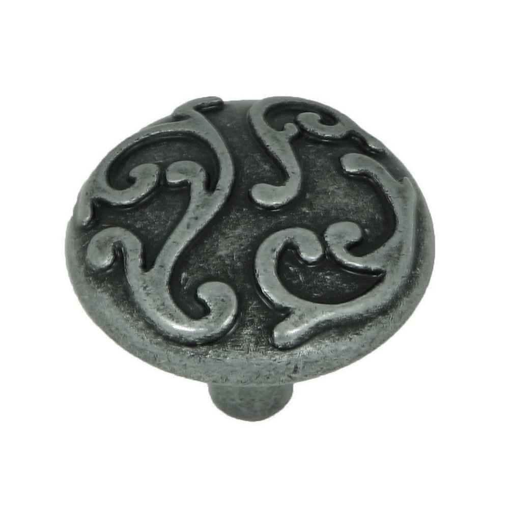 Ivy 1-1/8 in. Swedish Iron Round Cabinet Knob (10-Pack)