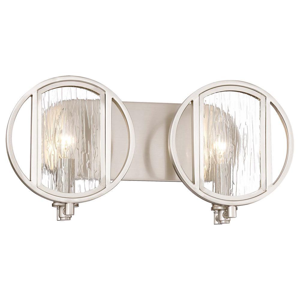Minka Lavery Via Capri Light Brushed Nickel Bath Light - Minka lavery bathroom mirrors