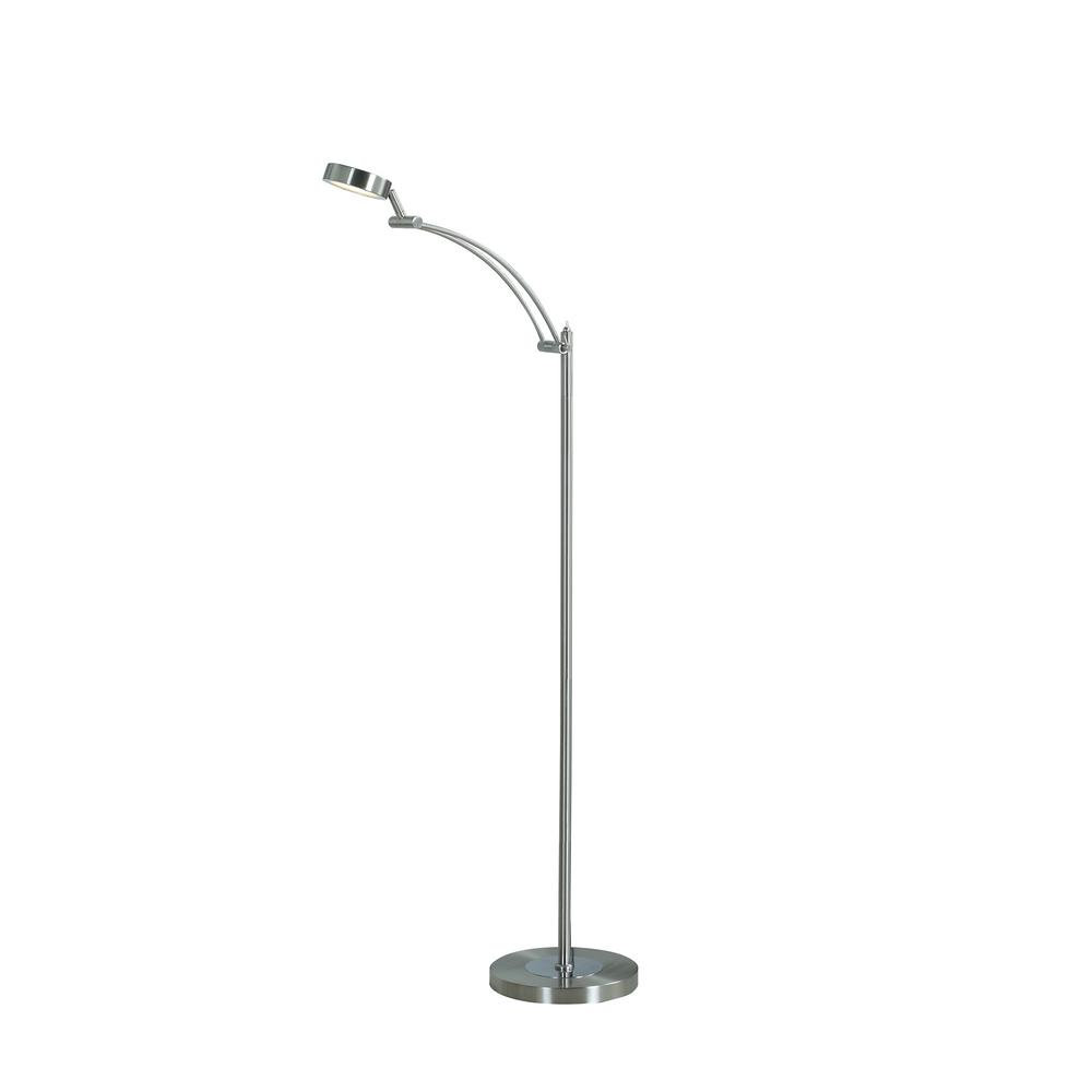 54 in. Silver Tinsley Integrated LED Task Floor Lamp