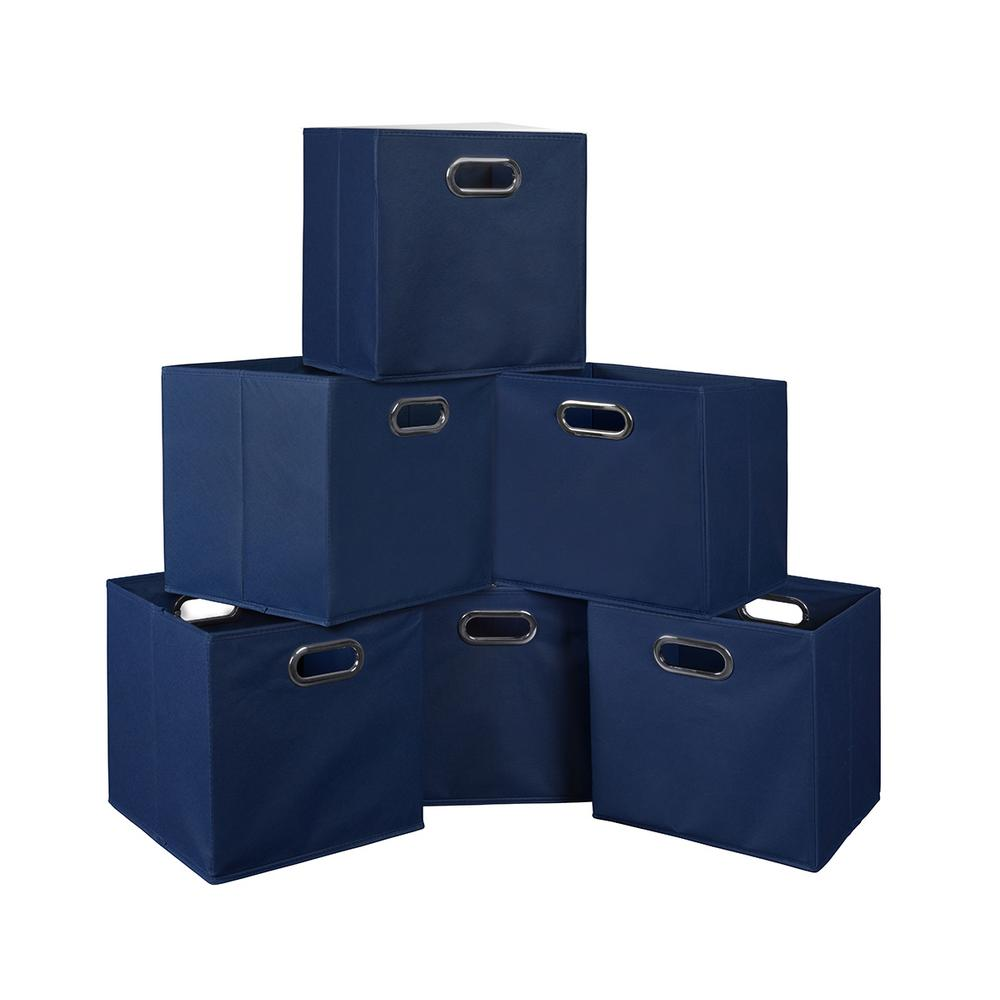 Cubo 12 in. x 12 in. Blue Foldable Fabric Bin (6-Pack)