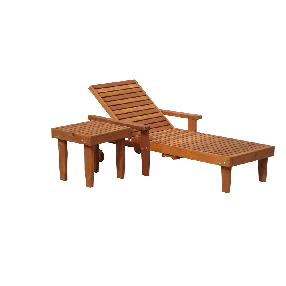 null Summer 1905 Super Deck Redwood Outdoor Chaise Lounge  sc 1 st  Home Depot : redwood chaise lounge - Sectionals, Sofas & Couches