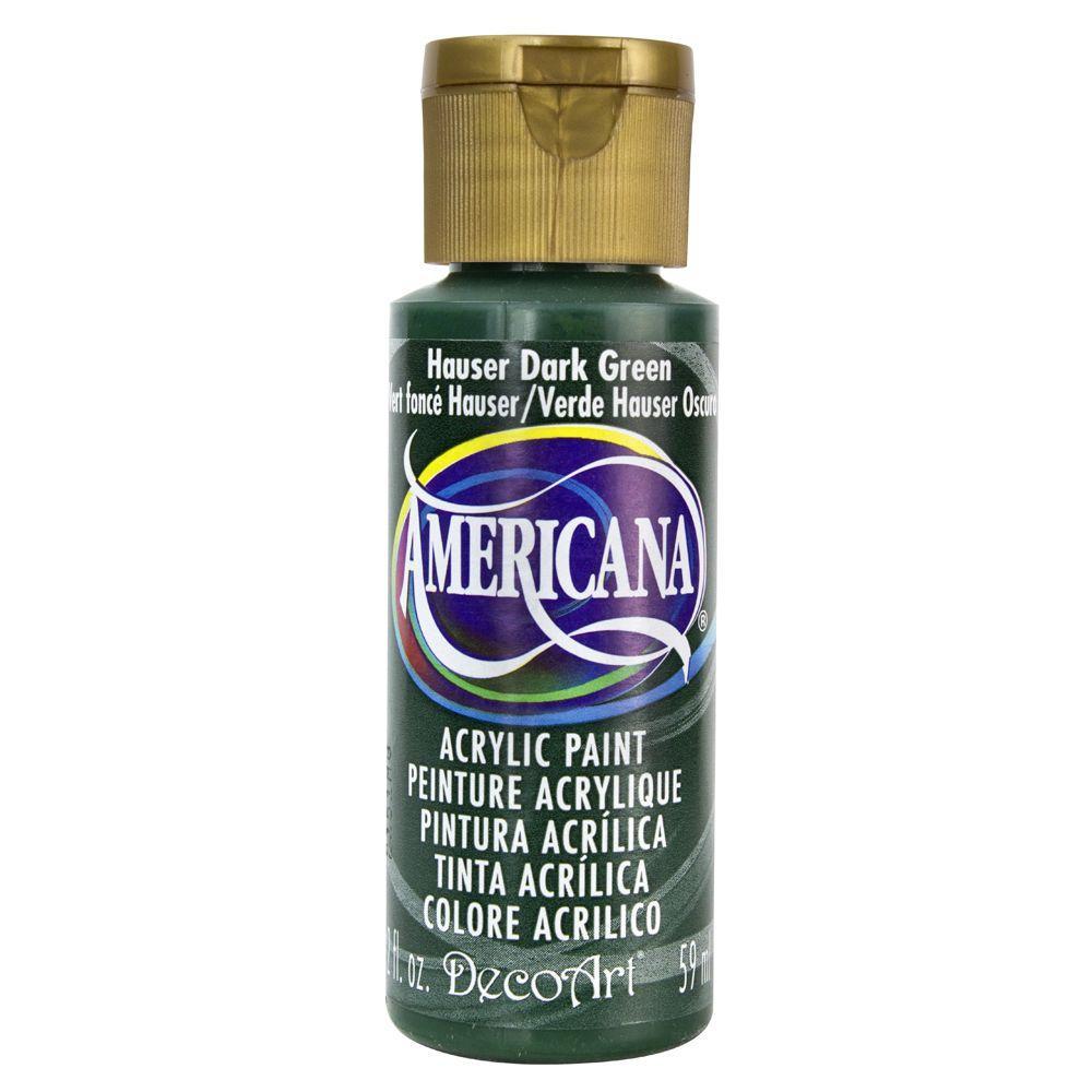 Americana 2 oz. Hauser Dark Green Acrylic Paint