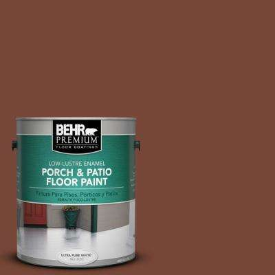 1 gal. #S200-7 Earth Fired Red Low-Lustre Porch and Patio Floor Paint