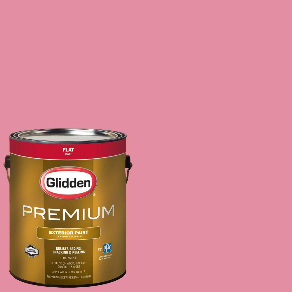 Glidden Premium 1-gal. #HDGR15 Pinkety Pink Flat Latex Exterior ...