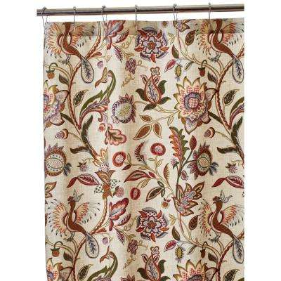 Dreamcatcher 72 in. Shower Curtain in Fresco