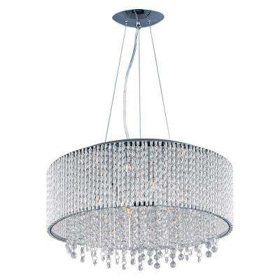 10-Light Chrome Levana Crystal Shade Chandelier