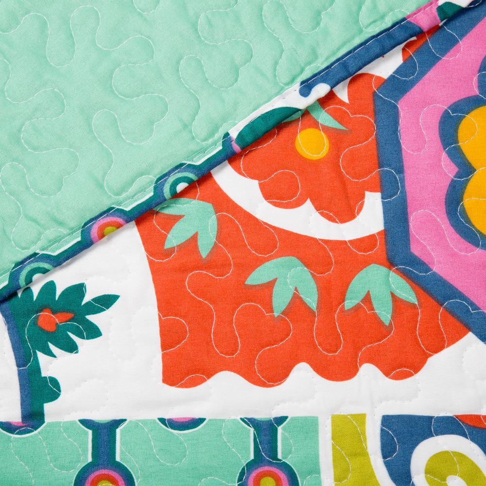Lavish Home Sybil Green Polyester Full/Queen Quilt