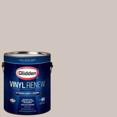 1 gal. #HDGWN36 Fossil Grey Low-Lustre Exterior Paint with Primer