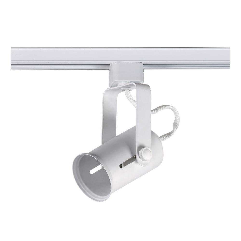 sports shoes 03749 dd631 Commercial Electric 1-Light Universal Multi-Bulb Linear Track Lighting Head