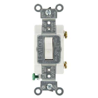 20 Amp Single-Pole AC Quiet Toggle Switch, White