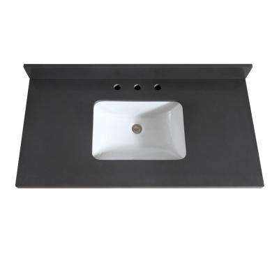 43 in. W x 22 in. D x 1.5 in. H Quartz Vanity Top in Gray