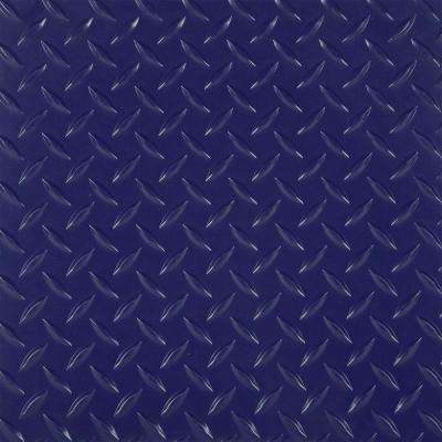 RaceDay 2 ft. x 2 ft. Purple Peel and Stick Diamond Tread Polyvinyl Tile (40 sq. ft. / case)