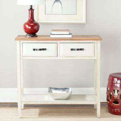 Carol White Birch Storage Console Table