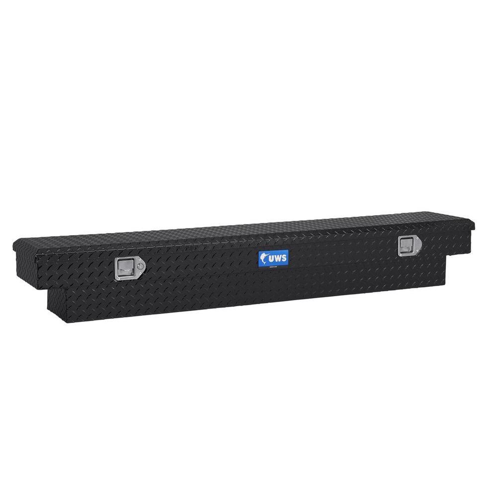 60 in. Aluminum Black Single Lid Crossover Slim Line Tool Box
