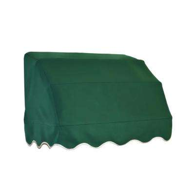 5 ft. Vermont Waterfall Awning (31 in. H x 24 in. D) in Forest