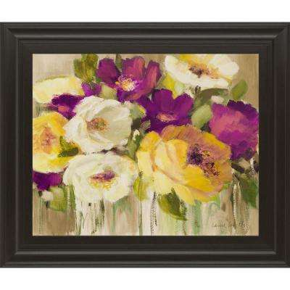"22 in. x 26 in. ""Deep in Purple I"" by Lanie Loreth Framed Printed Wall Art"