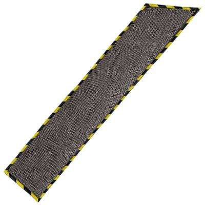 Gray 32 in. x 102 in. Garage Mat with Grid