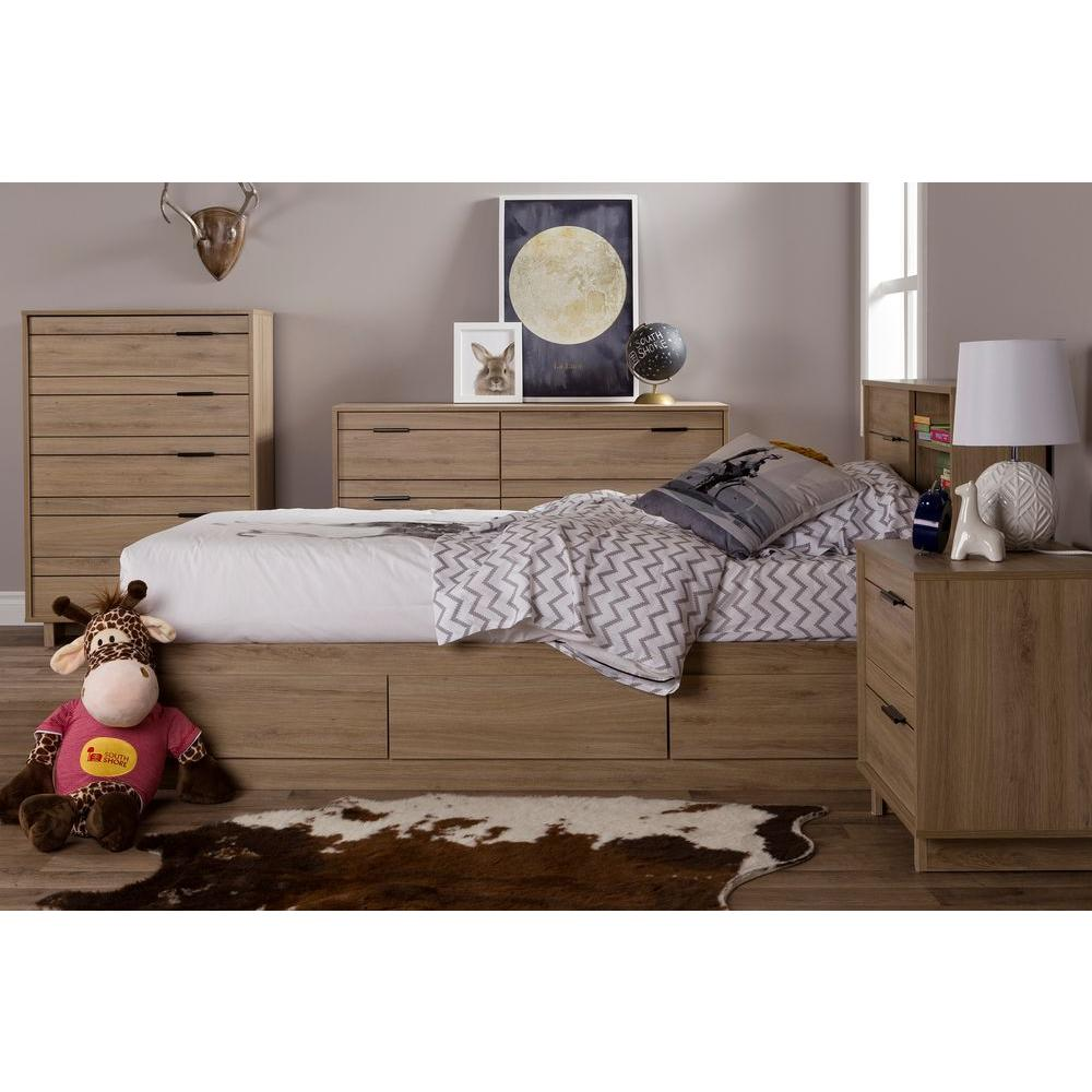 South Shore Fynn Rustic Oak Twin Kids Headboard-10092 ...