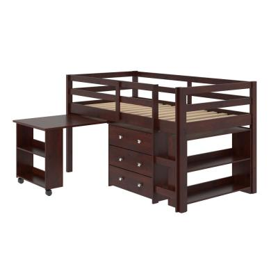 Cappuccino Twin Low Loft Bed