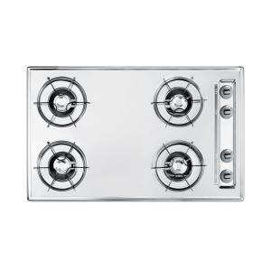 30 in gas cooktop in chrome with 4 burners